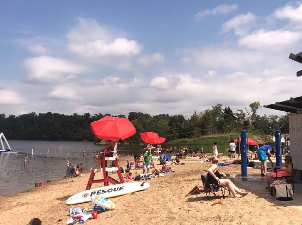 Beach+goers+spend+Labor+Day+weekend+on+the+new+lake+addition.