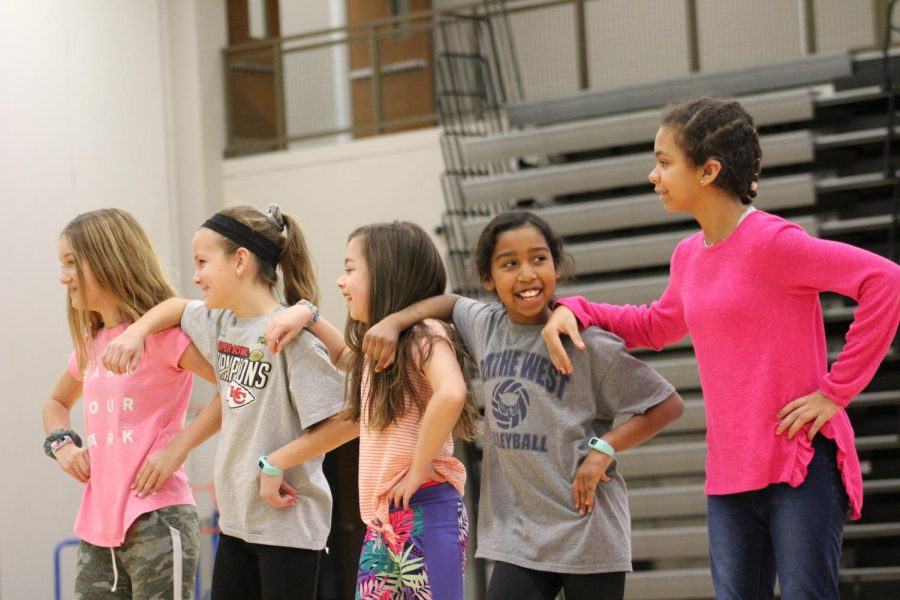 The Little Owls Dance Camp: The fourth and fifth grade group perform their rehearsed dance in front of parents.