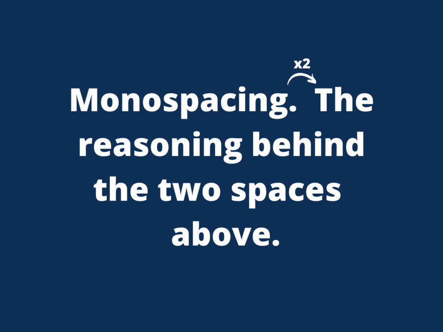 Adding two spaces after a period used to be the standard. Now it's a thing of the past.