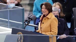 Senator Amy Klobuchar gives a welcome address to the nation.