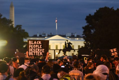 Protestors gather at D.C. to protest the death of George Floyd.