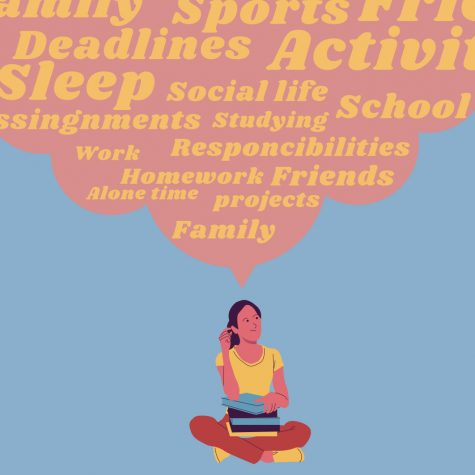Students try to juggle advanced classes, extra curricular activities, and a social life.