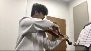 Senior David Morones, finds his passion in theatre and the viola. He takes part in the Hispanic Leadership Club and works to bring Hispanic culture into the arts.